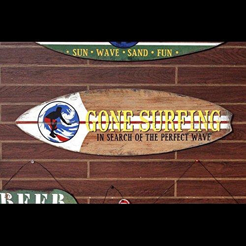 RoomClip商品情報 - サーフボード サインボード「GONE SURFING」 /サーフィン/オブジェ/インテリア/ハワイアン雑貨/