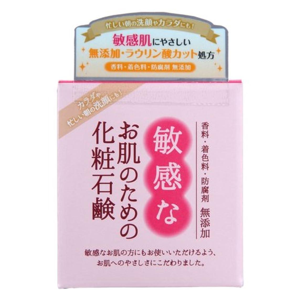 横に女の子冗談で敏感なお肌のための化粧石鹸 100g CBH-S