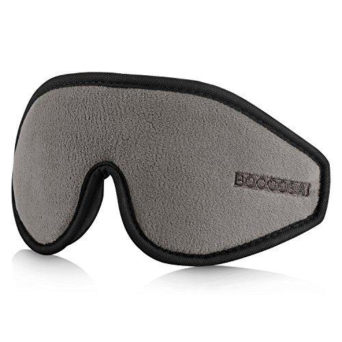 BOOCOSA 立体型 アイマスク 夏冬両用 低反発 通気性抜群 圧迫感なし究極の柔らかシルク質感 昼寝に最適