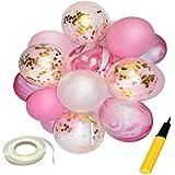 Perfk バルーンセット 風船 紙吹雪バルーン パーティー 装飾 全3色 - ピンク