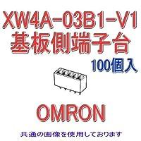 オムロン(OMRON) XW4A-03B1-V1 (100個入) コネクタ端子台基板側端子台 プラグ ストレート端子 3極 (端子ピッチ3.81mm) NN