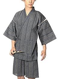 [リピード REPIDO] 甚兵衛 メンズ シジラ織 甚平 浴衣 和服