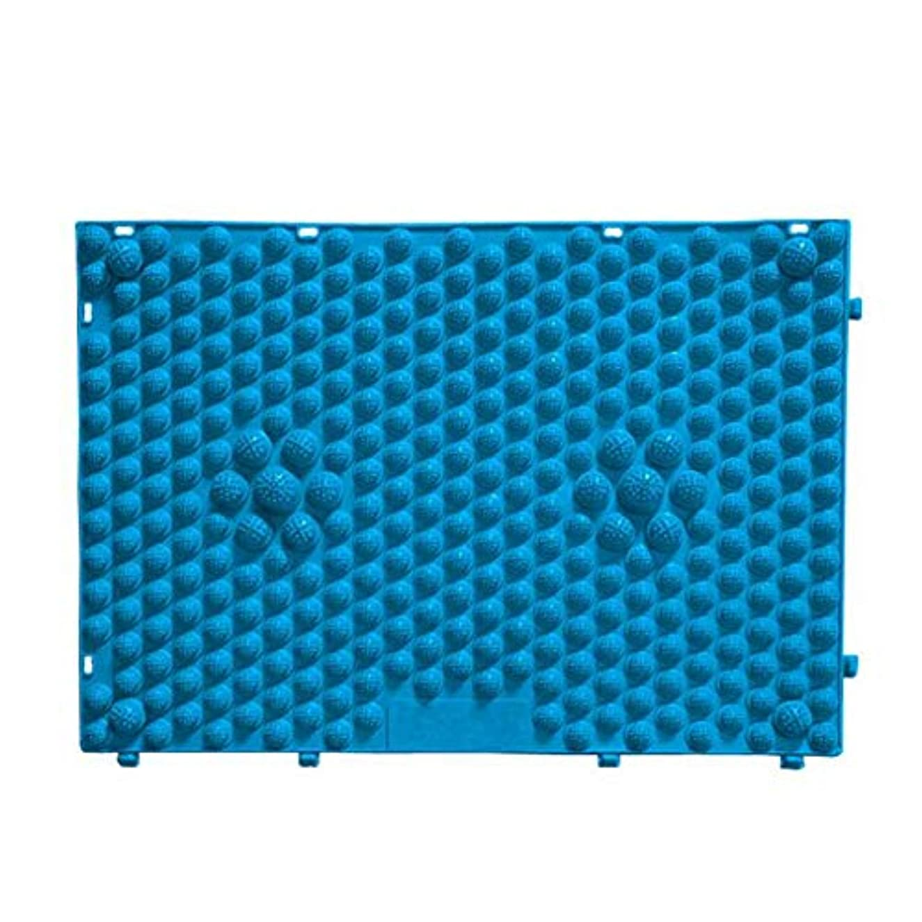 衣服用量なぞらえるFOREVER YOUNG マッサージシート フットマッサージマット フットマッサージ ウォーキングマット 足踏みマッサージ 足つぼ マット 足裏マット 組合せ 60*40cm (ブルー)