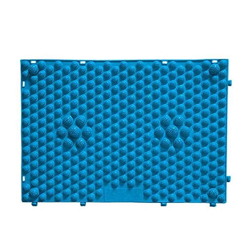 どんよりした脚安定したFOREVER YOUNG マッサージシート フットマッサージマット フットマッサージ ウォーキングマット 足踏みマッサージ 足つぼ マット 足裏マット 組合せ 60*40cm (ブルー)