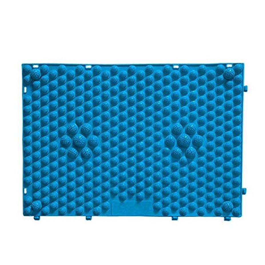バーターロードされた不適切なFOREVER YOUNG マッサージシート フットマッサージマット フットマッサージ ウォーキングマット 足踏みマッサージ 足つぼ マット 足裏マット 組合せ 60*40cm (ブルー)