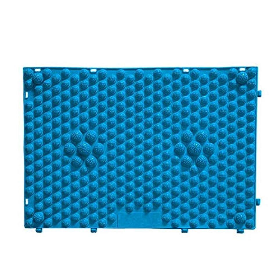 面積滑り台ジョグFOREVER YOUNG マッサージシート フットマッサージマット フットマッサージ ウォーキングマット 足踏みマッサージ 足つぼ マット 足裏マット 組合せ 60*40cm (ブルー)