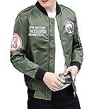 Gaosa 春 秋 冬 メンズ ファッション ジャケット ブルゾン ミリタリー 裏地付き カジュアル 防水 防風   (グリーン, L)