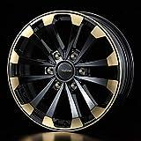 【ホイール4本価格】weds ウェッズ マッコイズ EP-4 36036 16インチ 16×6.5J インセット:38 穴数:6 PCD:139.7 カラー:BLACK&GOLD ハイエース200系