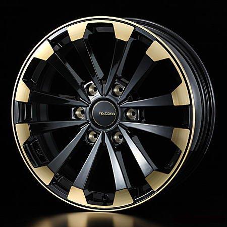 【ホイール4本価格】weds ウェッズ マッコイズ EP-4 36040 18インチ 18×7.0J インセット:38 穴数:6 PCD:139.7 カラー:BLACK&GOLD ハイエース200系