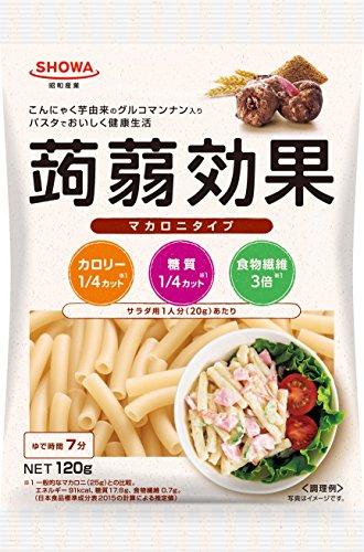 昭和 SHOWA 蒟蒻効果 グルコマンナン入りマカロニタイプ 120g