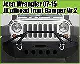 ジープ ラングラー JK フロントバンパー ブラックパウダー仕様 Ver2