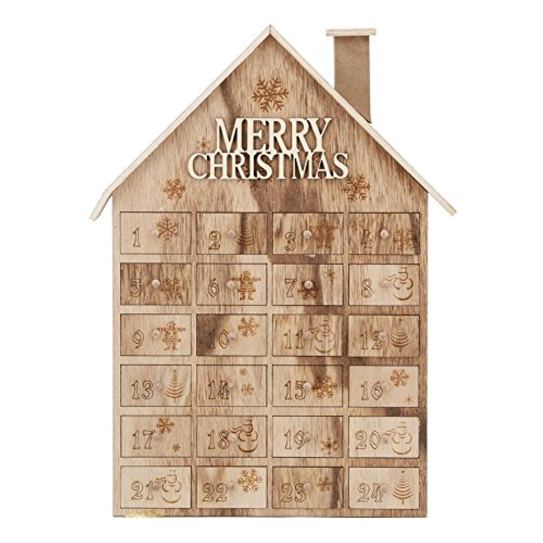 Wooden Music Box サンタクロースとドラムと様々なターニングギアホイールを持つクリスマスの木製のロッキングホースオルゴール