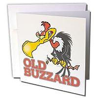 Dooniデザインランダムトゥーン–古いBuzzard–グリーティングカード Set of 12 Greeting Cards