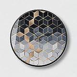 DUOLUO ノルディックアートウォールクロック現代的なミニマリストファッション雰囲気のリビングクリエイティブミュートサイレントクォーツ時計O65 (Size : 14A)