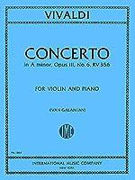VIVALDI - Concierto en La menor (RV356) (F.I/176) Op.3 nコ 6 para Violin y Piano (Galamian)