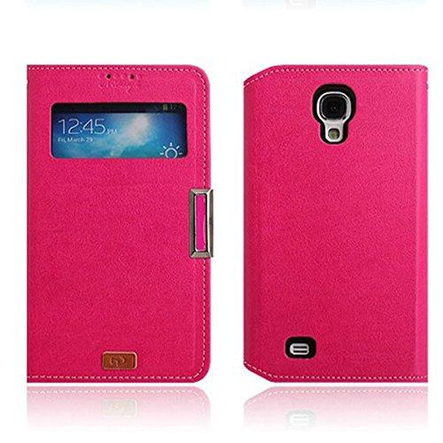 Galaxy S4 / ギャラクシー S4 (SC-04E) 対応 ケース Window View Flip ウインドー ビュー フリップ ケース スマホ カバー Pink / ピンク