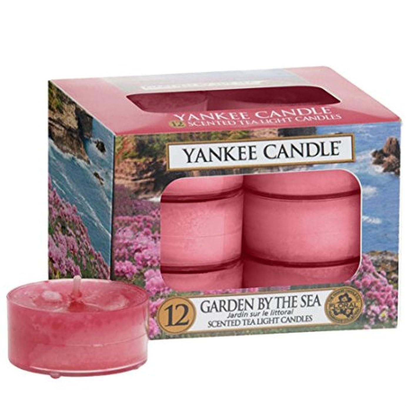 水曜日食い違い半球ヤンキーキャンドル(YANKEE CANDLE) YANKEE CANDLE クリアカップティーライト12個入り 「ガーデンバイザシー」