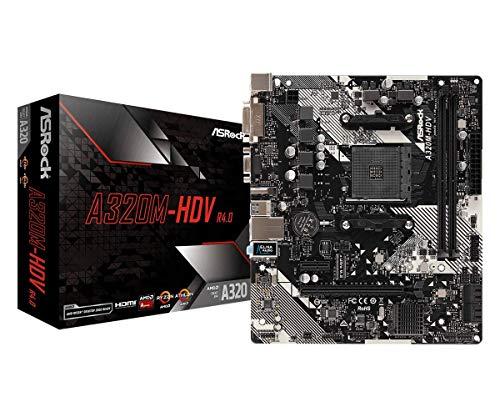 ASROCK AMD Ryzen AM4 対応 A320 チップ搭載 MicroATX マザーボード A320M-HDV R4.0 B07MNSP7PB 1枚目