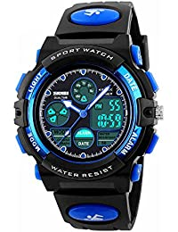 SKMEI 腕時計 キッズ 濃い青