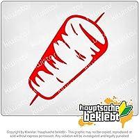 ロータリースプーン - ドナー Rotary spoon - Doner 20cm x 8,5cm 15色 - ネオン+クロム! ステッカービニールオートバイ