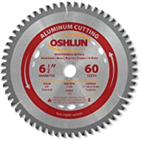 Oshlun SBNF-065060 6-1/2-Inch 60 Tooth TCG Saw Blade with 5/8-Inch Arbor (Diamond Knockout) for Aluminum and Non Ferrous Metals [並行輸入品]