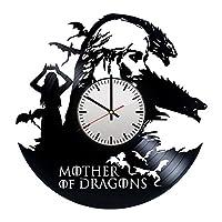 コンテンポラリー ビニール レコード 壁掛け 時計 - ユニークなベッドルームの壁の飾りを得ます - 男性と女性のためのギフトのアイデア - ファンタジー ドラマ ユニークなアート デザイン - フィードバックを残してカスタムの壁掛け時計を獲得します