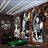 3D壁紙ビリヤード画像壁ビリヤード背景壁ビリヤードルームテーブルテニス壁紙装飾 300cm x 200cm