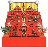 雛人形 久月 ひな人形 雛 七段飾り 十五人飾り 平安弌峰作 京雛 正絹有職 六番親王 八寸揃 川瀬猪山頭 h293-k-k7527 K-12