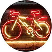 Bicycle Lover Shop Display Dual Color LED看板 ネオンプレート サイン 標識 赤色 + 黄色 400 x 300mm st6s43-i3171-ry