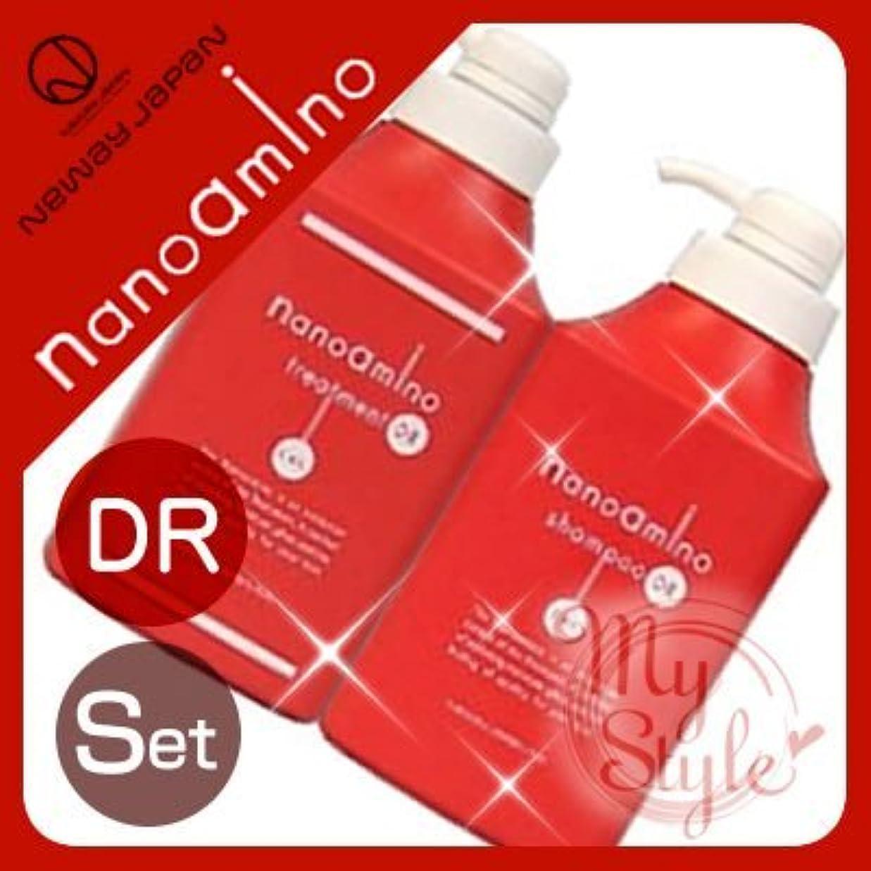 蒸留するチャレンジ有名なナノアミノ シャンプー&トリートメントDR<1000mL>ボトルセット ニューウェイジャパン nanoamino