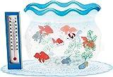 サンリオ(Sanrio) サマーカード 温度計付き金魚鉢 JSP 49-1 S 4249