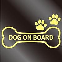 nc-smile dog on board 骨型 肉球 犬 乗ってます ステッカー (L, ジャスミン)