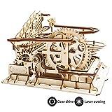 Robotime コースター 水車 3D立体パズル ギア 手回し レザー 木製 クラフト キット プレゼント (水車)