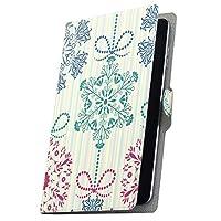 タブレット 手帳型 タブレットケース タブレットカバー カバー レザー ケース 手帳タイプ フリップ ダイアリー 二つ折り 革 雪 結晶 模様 005503 Arc 7 rakuten 楽天 Kobo コボ Arc7 arc7-005503-tb