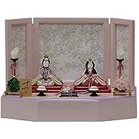雛人形 アウトレット品 平飾り木目込み親王 さくらさくら2号C-128 幅45cm 3mk39 一秀 ピンクのお雛様