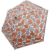 折りたたみ傘 軽量 かんたん開閉 花柄 パイピング 撥水 親骨50cm (グレー)