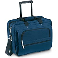 eBuyGB Executive Business Laptop Bag - Cabin Flight Trolley Wheeled Case (Blue)