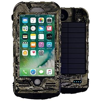 【世界で唯一の防水防塵耐衝撃ソーラーパネル付バッテリーケース】SLエクストリーム8 for iPhone8/7 モッシーオークモデル