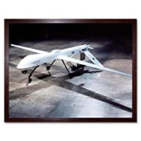 Military Air Plane Jet Usaf Drone Predator Art Print Framed Poster Wall Decor 12X16 Inch 軍事飛行機ポスター壁デコ