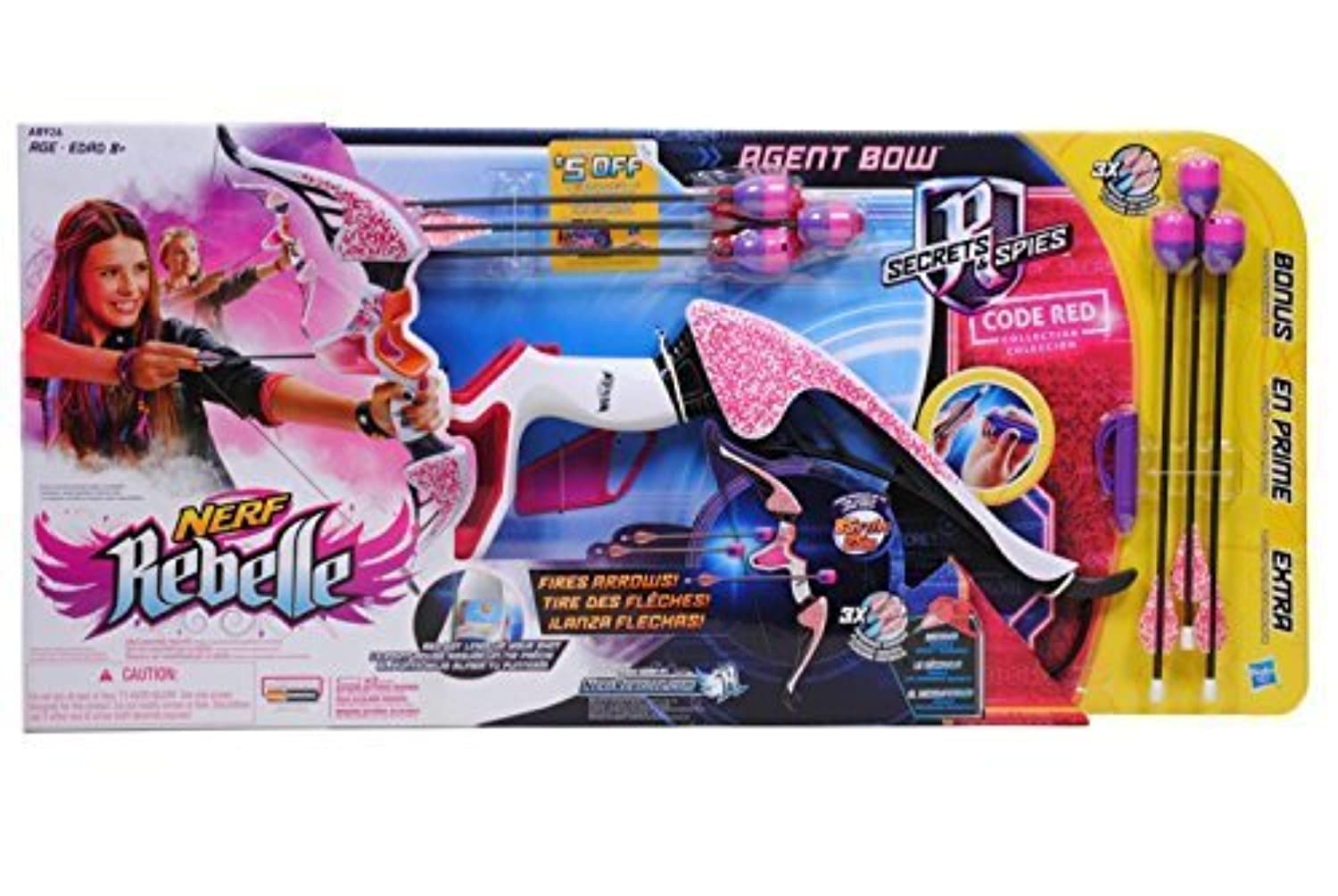 Nerf Rebelle Agent Bow Blaster Exclusive Code Red Collection [並行輸入品]