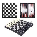 Best バックギャモンセット - Peradix チェス チェッカー バックギャモン 一つチェス盤で3種類ゲームセット 本格 チェス盤 折り畳み式 Review