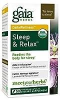 海外直送品Sleep & Relax, 50 caps by Gaia Herbs