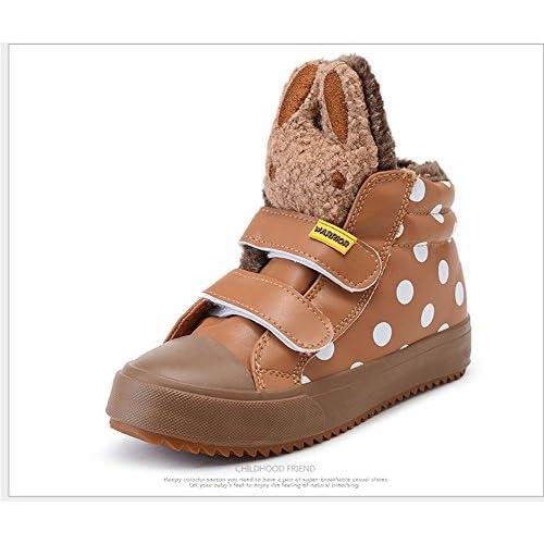 (チェリーレッド) CherryRed 子供靴 キッズ ジュニア 女の子 男の子 スニーカー 運動靴 軽い 可愛い 歩きやすい 人気 キャンバススニーカー ウサギ 冬 裏起毛 ブラウン