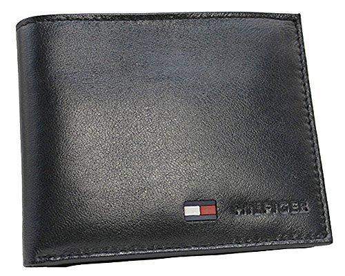 28ddc32b89202 ( トミーヒルフィガー ) TOMMY HILFIGER 二つ折財布 小銭入れ付き 31TL25X020 黒 ブラック レザー