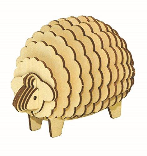 [해외]나무 퍼즐 kigumi (나무 조) 양 메모 스탠드/Wooden puzzle kigumi (keigumi) sheep memo stand
