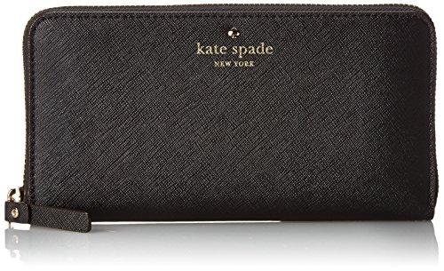 (ケイトスペード) Kate Spade ラウンドファスナー 長財布[小銭入れ付き] CEDAR STREET LACEY LEATHER BLACK [並行輸入品]