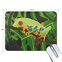 マウスパッド カエル 柄 グリーン 疲労低減 ゲーミングマウスパッド 9 X 25 厚い 耐久性が良い 滑り止めゴム底 滑りやすい表面