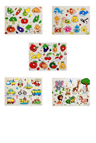 yasushoji 木のおもちゃ 知育玩具 図形 パズル 形はめ 絵 合わせ 幼児 プレゼント お祝い おもちゃ (タイプA)