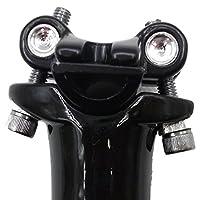 [phalatina] 2 ボルト 締め 軽量 カーボン シート ポスト 27.2 30.8 31.6 mm 光沢 非光沢 ロード マウンテン バイク MTB シクロクロス 快適 な 旅 のお 供 に! (31.6 クリアブラック)