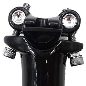 [phalatina] 2 ボルト 締め 軽量 カーボン シート ポスト 27.2 30.8 31.6 mm 光沢 非光沢 ロード マウンテン バイク MTB シクロクロス 快適 な 旅 のお 供 に! (27.2 クリアブラック)